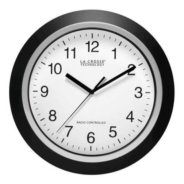 Black Atomic Analog Wall Clocks: Atomic Wall Clocks