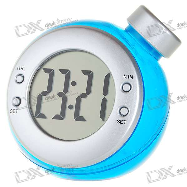 Unique 2 LCD Water Powered Desktop Clock - Free Shipping ...