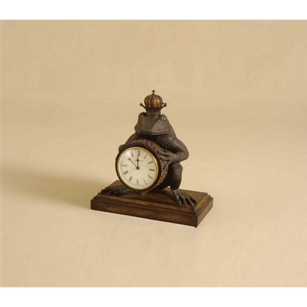 Maitland Smith Cast Brass Verdigris Finished Frog Clock, Abaca Rope ...