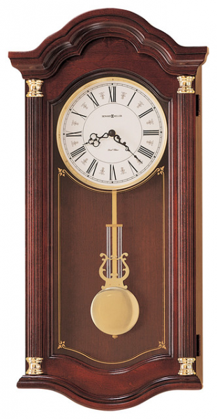 Howard Miller Dual Chime Cherry Wood Wall Clock | LAMBOURN traditional ...