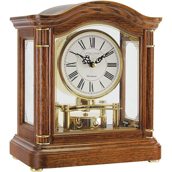 Oak Break Arch Westminster Chime Pendulum Mantel Clock » Posh Clocks