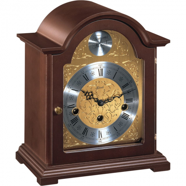 Hermle Debden Mechanical Mantel Clock - Mahogany - Westminster Chime
