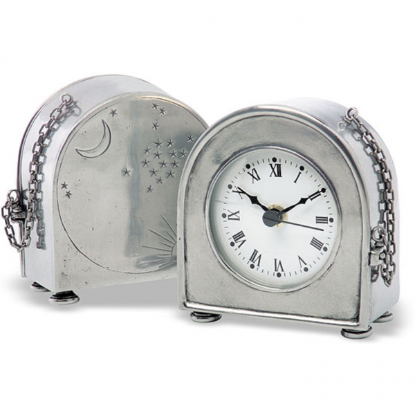 Match Pewter Table Clock