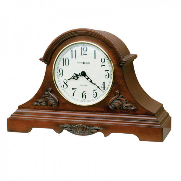 Mantel Clocks, Cherry dual chime Quartz Mantel Clock 635127 SHELDON