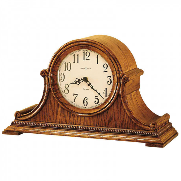 630152 Howard Miller fireplace Chiming oak mantel Clock HILLSBOROUGH