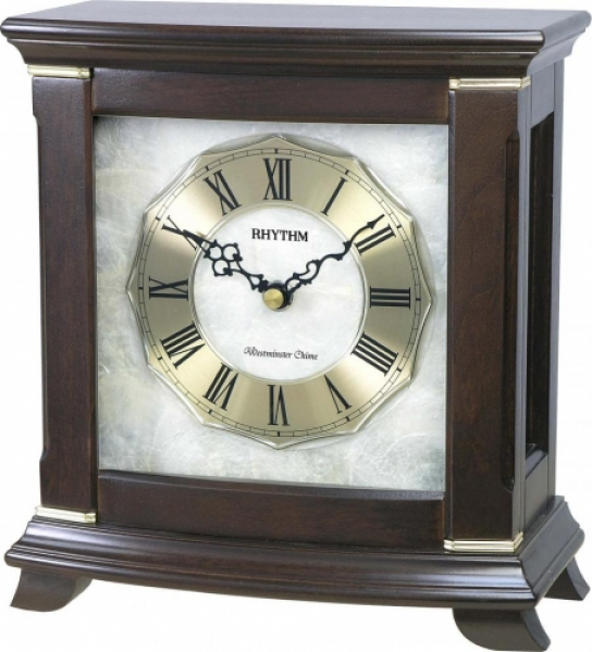 ... Copeland Musical Mantel Clock Including Holiday Melodies - Wooden Case