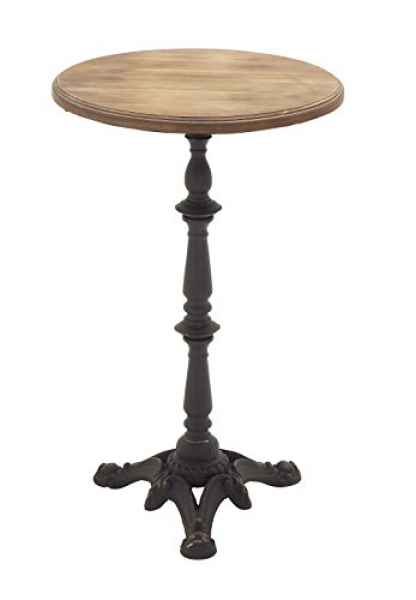 Deco 79 Metal Wood Accent Table, 17 By 28-inch