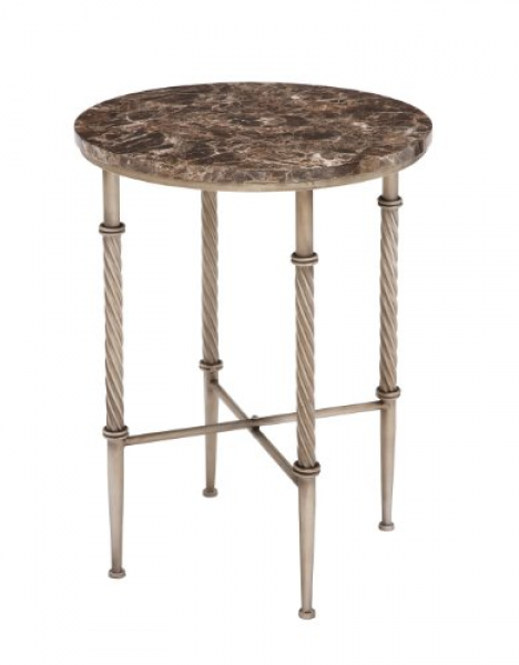 Deco 79 Metal Faux Marble Accent Table, 18 By 25-inch