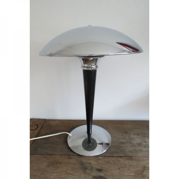 Home / Lighting / Funky Silver Metal Art Deco Style Table Desk Lamp