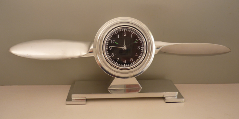 Airplane Propeller Desk Clock | Pilot Gifts | Airplane Decor