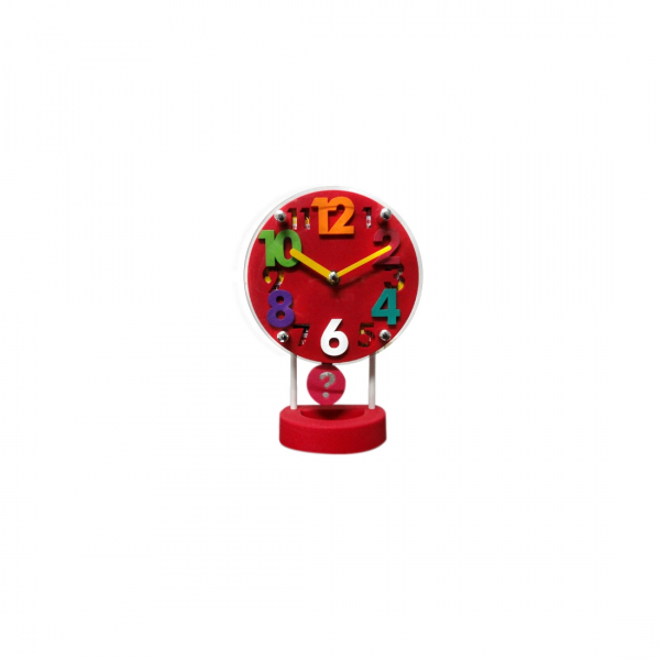 Buy Pendulum Table Clock : Round Red online in India at cheap rate at ...