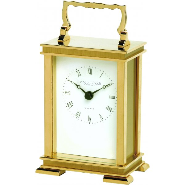 ... about LONDON CLOCK CO SOLID BRASS & GOLD FINISH CARRIAGE MANTEL CLOCK