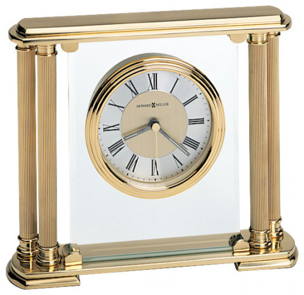 Athens Solid Brass Table Clock transitional-desk-and-mantel-clocks
