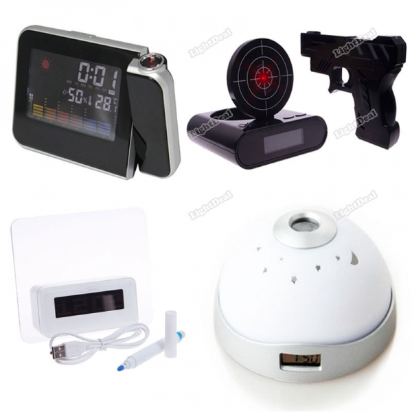 Change Projection Projector Alarm Clock High Quality-in Alarm Clocks ...