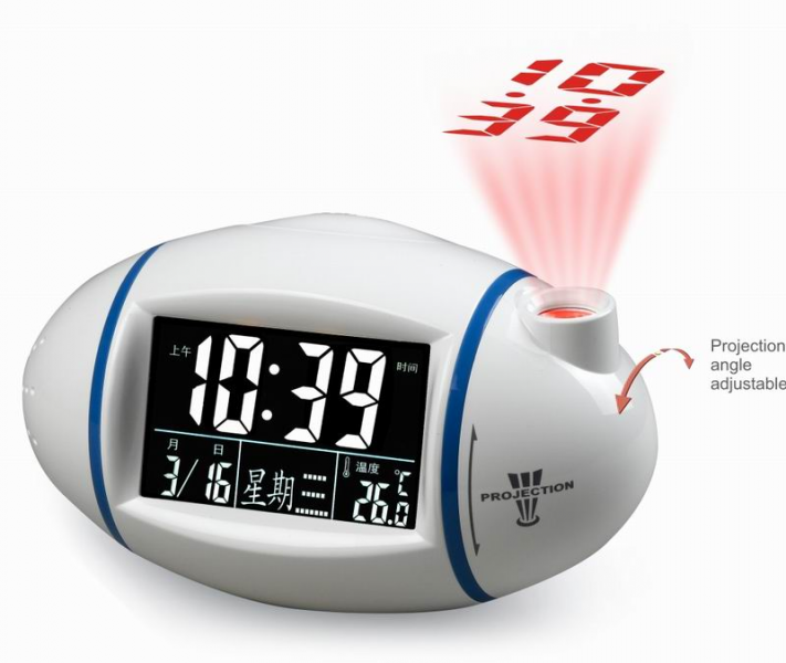Nature Sound Projection Talking Alarm Digital LED Projector Clock