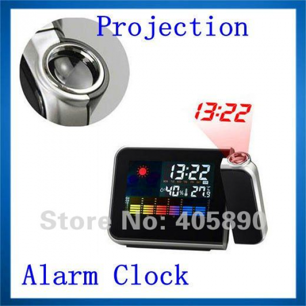 Function Weather Station Digital LCD Screen Projection Alarm Clock ...