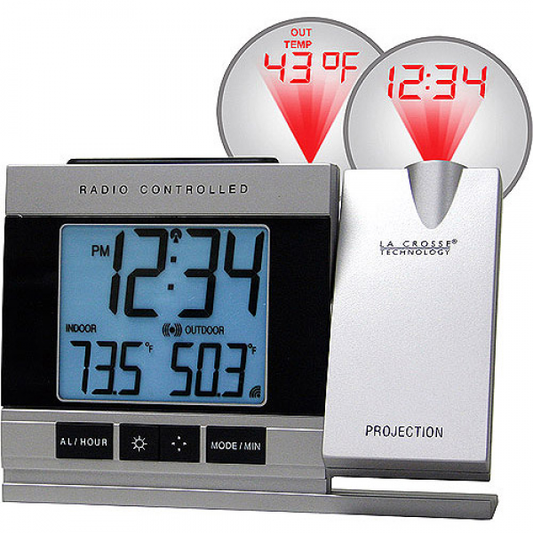 La Crosse Technology Projection Digital Alarm Clock with Temperature ...