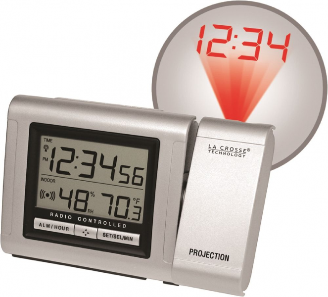 WT 5110 La Crosse Technology Projection Alarm Clock with in ...