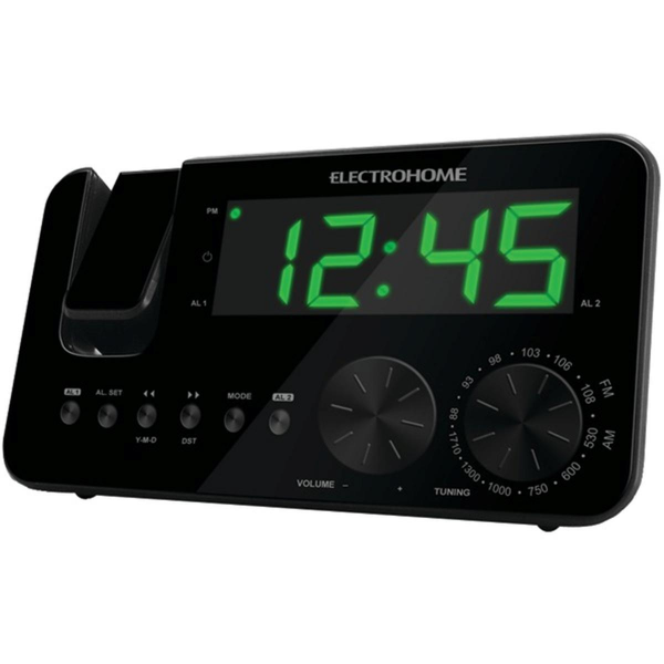 Electrohome Projection Clock Radio w/ Dual Alarm & Battery Backup