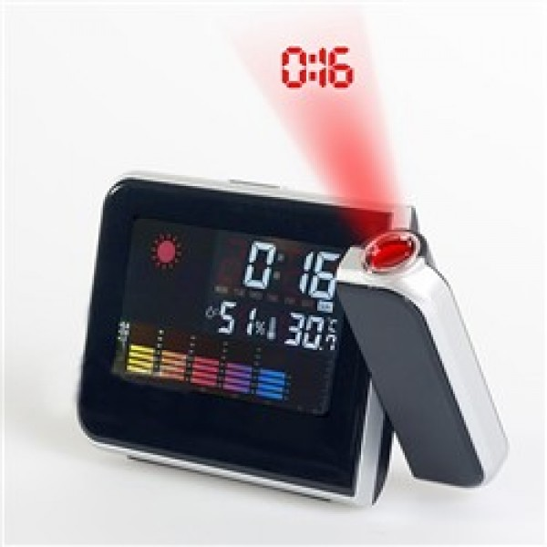 Multi-Function Weather Station Projection LED Backlight Alarm Clock ...