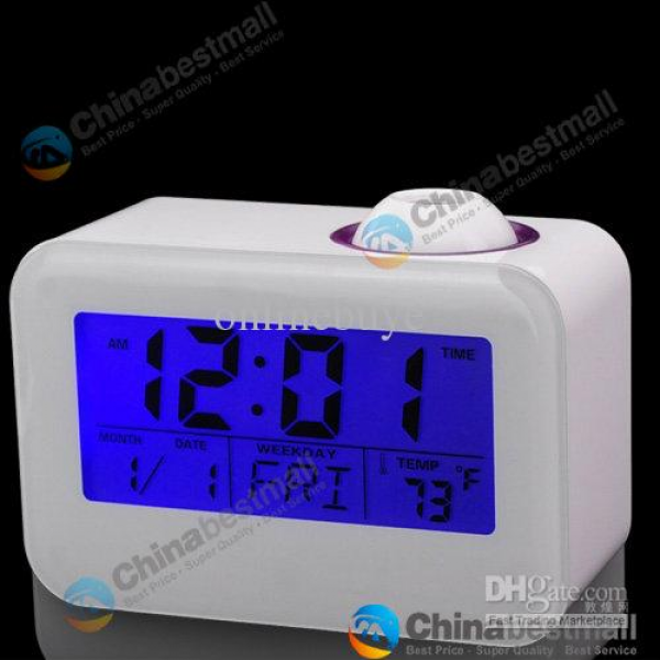 Multi-function Clock Talking Projection Alarm Digital LED Projector ...