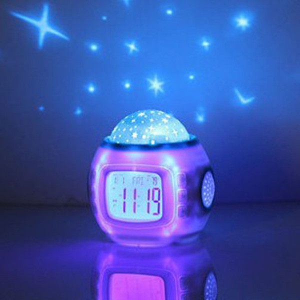 Light LED Night Light Gift Music Starry Sky Projection Alarm Clock ...