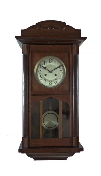 Details about Beautiful Antique German wall clock at 1910 / 1920