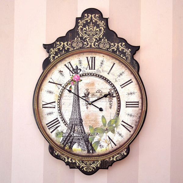 Home > French Antique Style Inspired Eiffel Tower Wall Clock