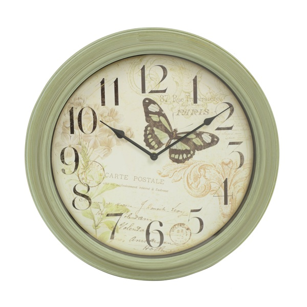 Green Antique Butterfly 18-inch Wall Clock - Overstock Shopping ...