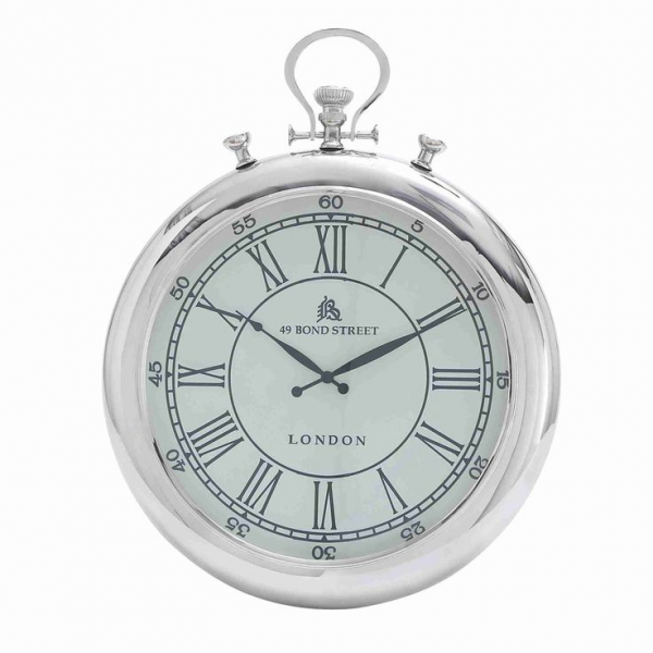 Classic Design Nickel-plated Round Wall Clock