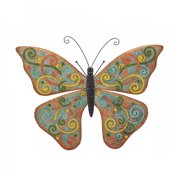 Benzara - Elegant Styled Metal Butterfly Wall Decorative