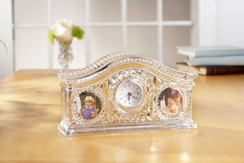 Fifth Avenue Crystal Picture Frame Desk Clock - $32.00 & FREE Shipping ...