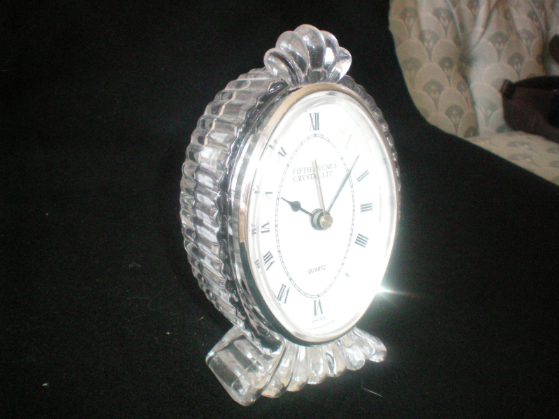 ... www.etsy.com/listing/105245884/fifth-avenue-crystal-ltd-table-clock