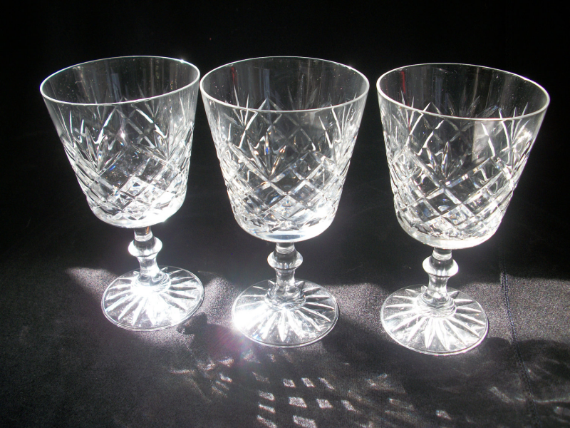 panache crystal goblets set tray serving piece mikasa crystal pattern