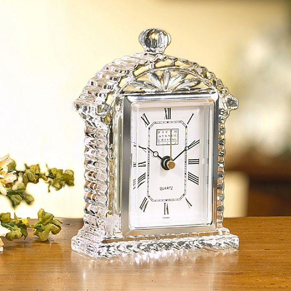 .com Fifth Avenue Crystal Fifth Avenue Crystal Lisbon Tabletop Clock ...
