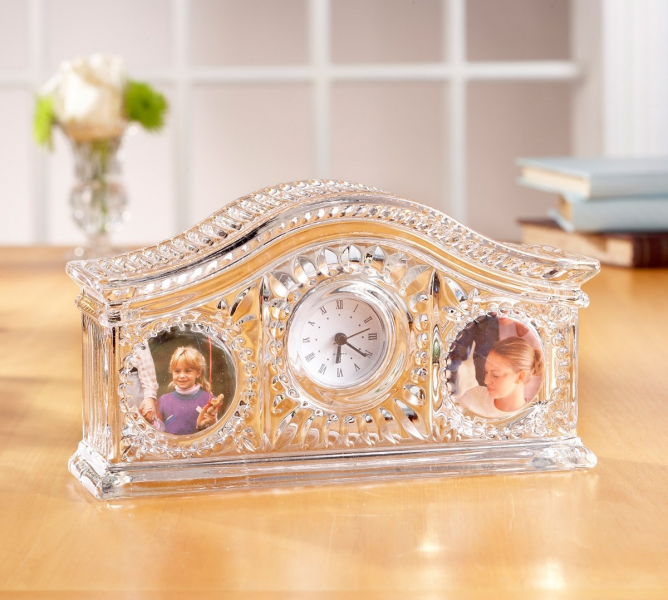 Fifth Avenue Crystal Picture Frame Desk Clock 324603-GB by Fifth ...
