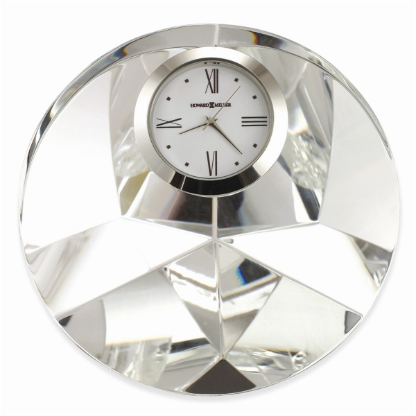 ... Galaxy Round Faceted Optical Crystal Table Clock - Pricefalls.com