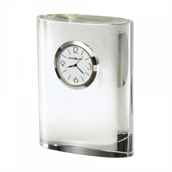 ... Miller Fresco Table Clock, optical crystal - 645718 - Pricefalls.com