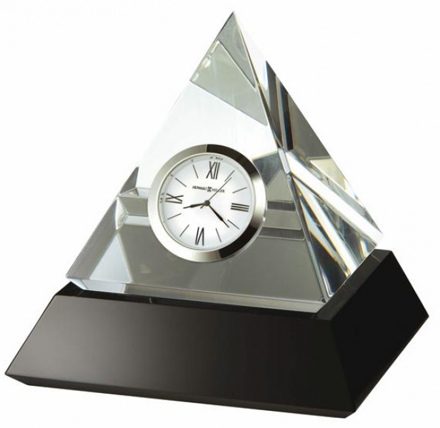 ... crystal pyramid table clock previous in table clocks next in table