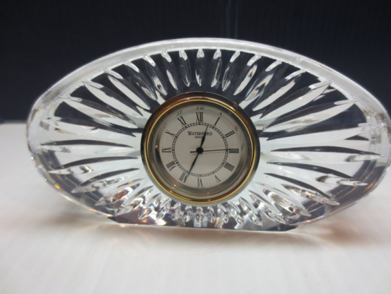 Waterford Crystal Small Oval Desk Clock by JewelryanotherStuff