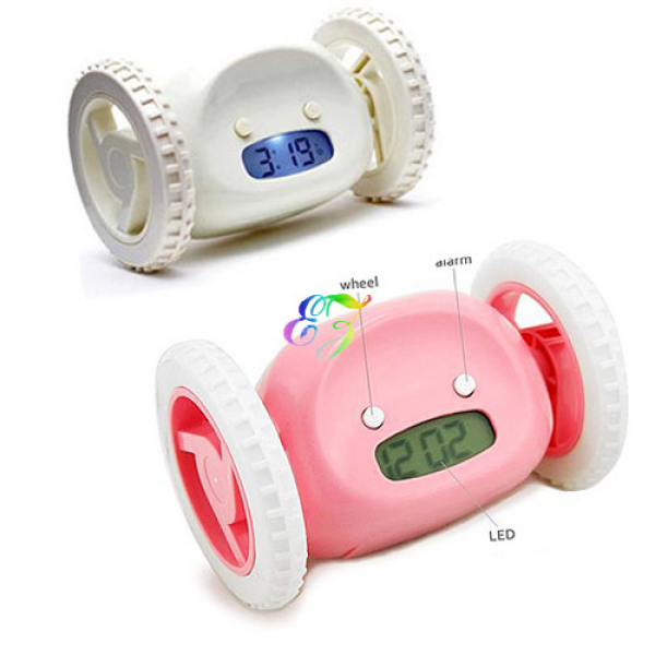 ... Running & Jumping Digital Robot Loud Alarm Clock Kid Boy Girl Toy Gift