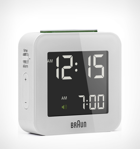 Braun Small Square Digital Alarm Clock - White - Rushfaster.com.au ...