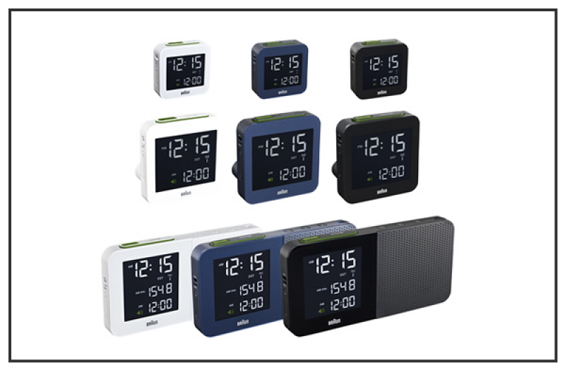 digital clock range consists of a small travel clock, a bedside alarm ...