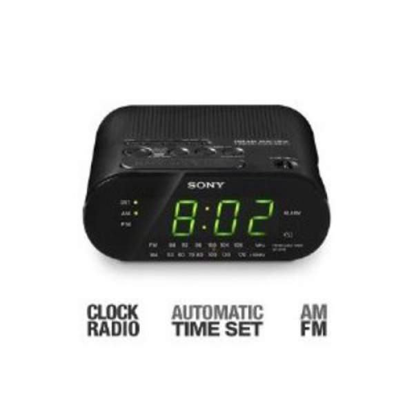 Details about Sony Automatic Time Set AM/FM Dual Alarm Clock Radio