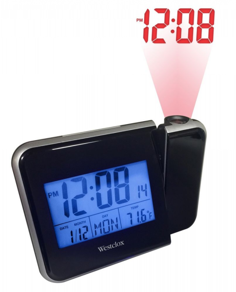 Westclox Digital Projection LCD Alarm Clock w Temp Display | eBay