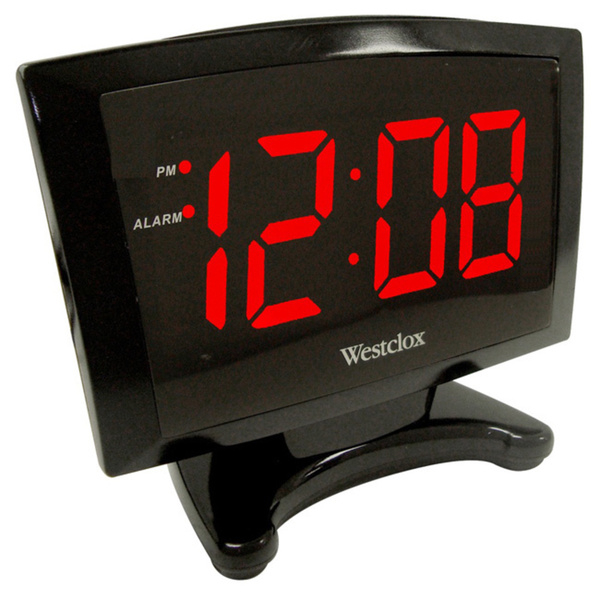 The Westclox alarm clock features large, easy to read 1.8-inch red LED ...