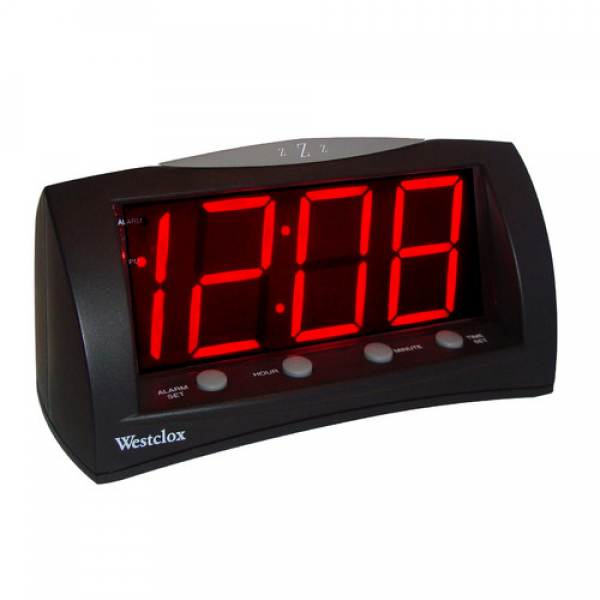 Digital LED Alarm Clock with Battery Backup