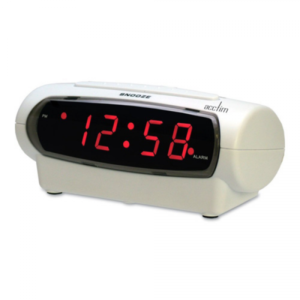 ACCTIM GEMINI RETRO STYLE DIGITAL ALARM CLOCK WITH RED LED DISPLAY AND ...
