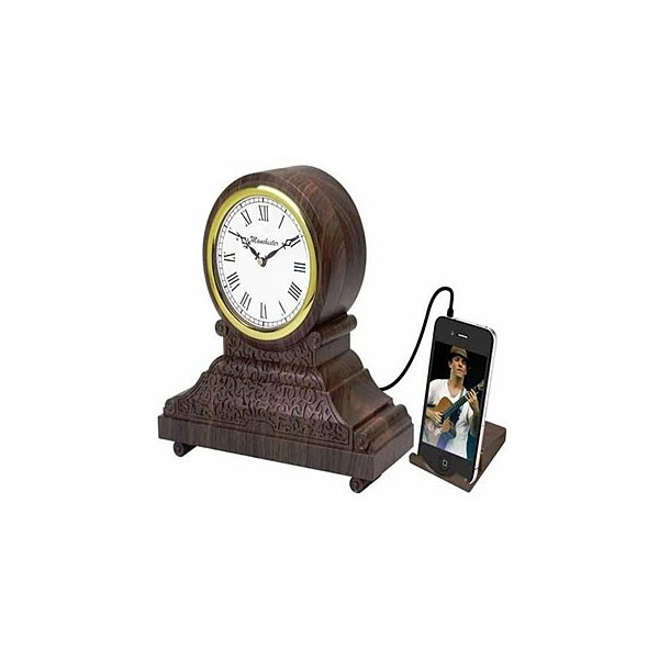 ... Vintage Style Alarm Clock with MP3/iPod, Digital Radio, and Alarm