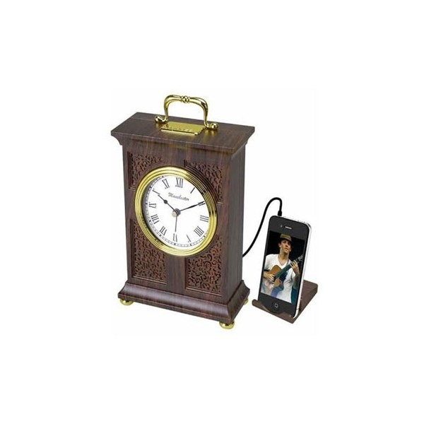 Vintage Style Alarm Clock with MP3/iPod, Digital Radio, and Alarm ...